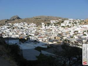 Pohled na město Lindos